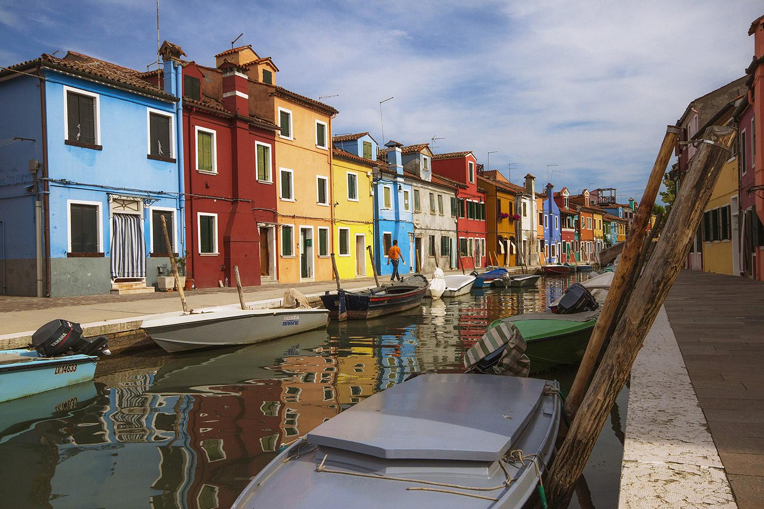 Coloured houses on the island of Burano